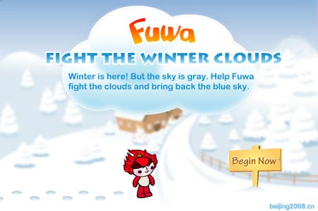 Fuwa Fight the Winter Clouds Title Screen