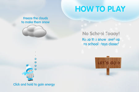 Snow Day Instructions Screen